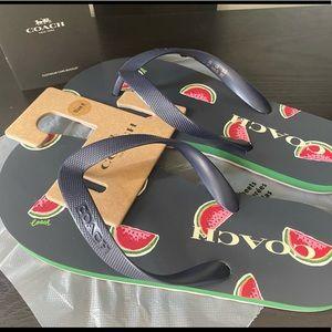 Coach Zak Flip Flop Navy Watermelon
